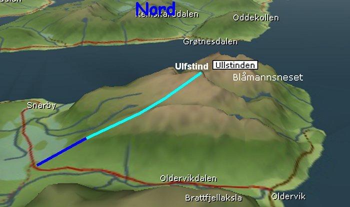 norgesglasset kart Ullstind norgesglasset kart