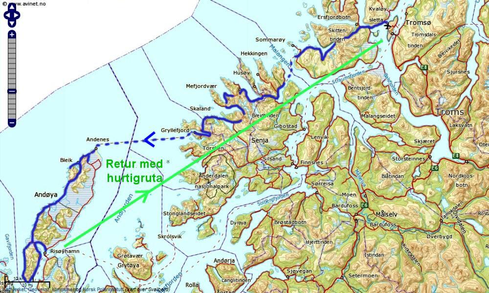 kart over senja Sykkel Tromso Senja Andenes kart over senja