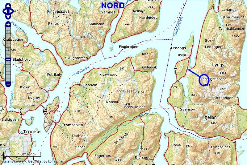 kart lyngen Blåvatnet kart lyngen