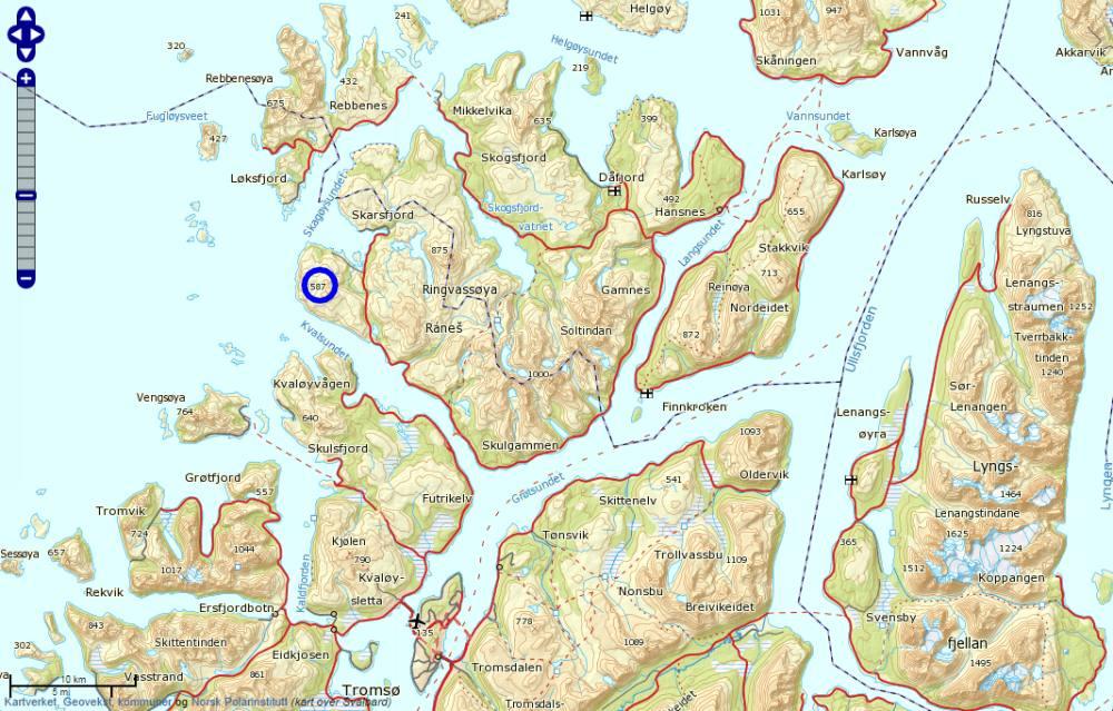kart ringvassøy Gråtinden, Ringvassøya kart ringvassøy