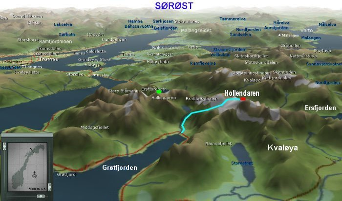 kart over kvaløya Hollendaren kart over kvaløya
