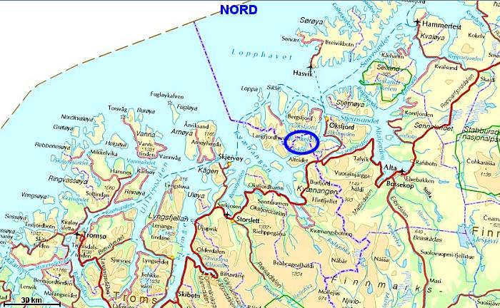 kart kvænangen Jøkelfjorden og Øksfjordjøkelen kart kvænangen