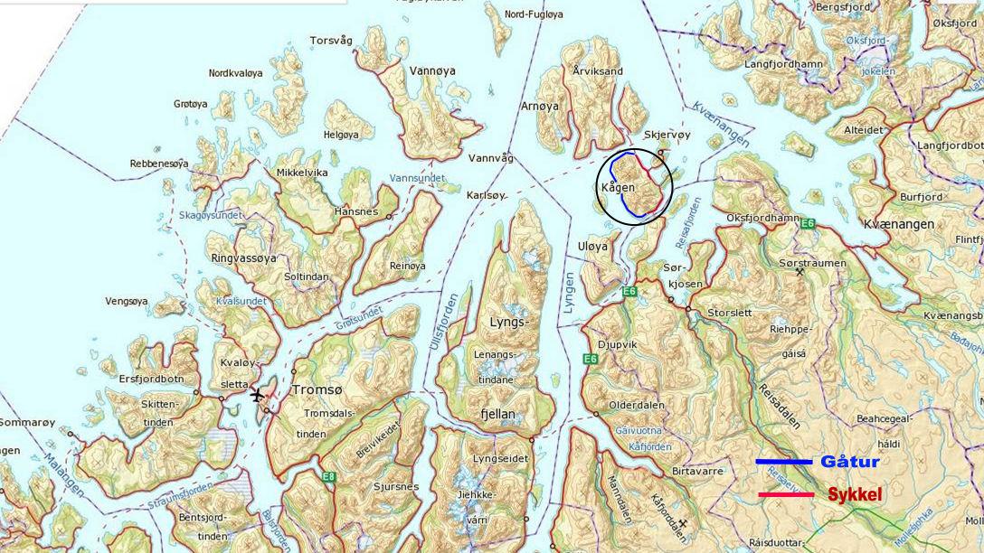 norge rundt kart Kågen rundt norge rundt kart