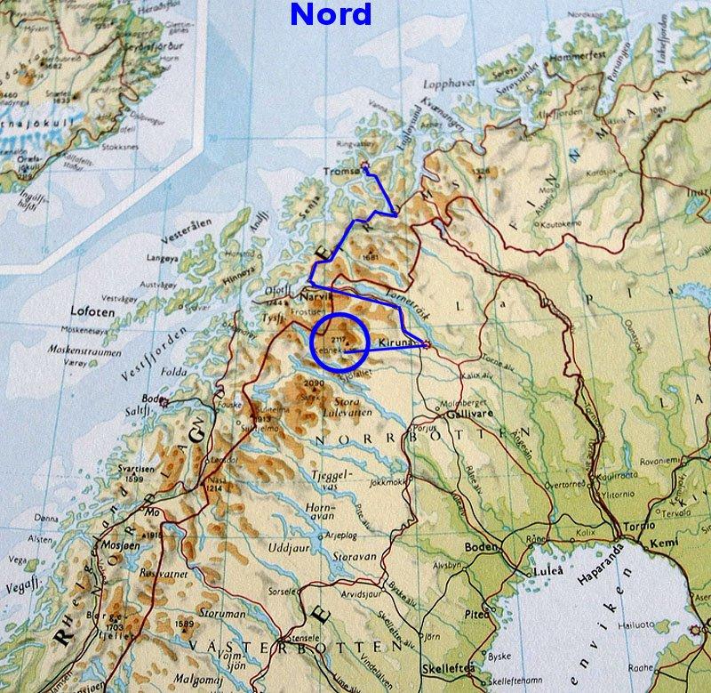 nord sverige kart Kebnekaise nord sverige kart