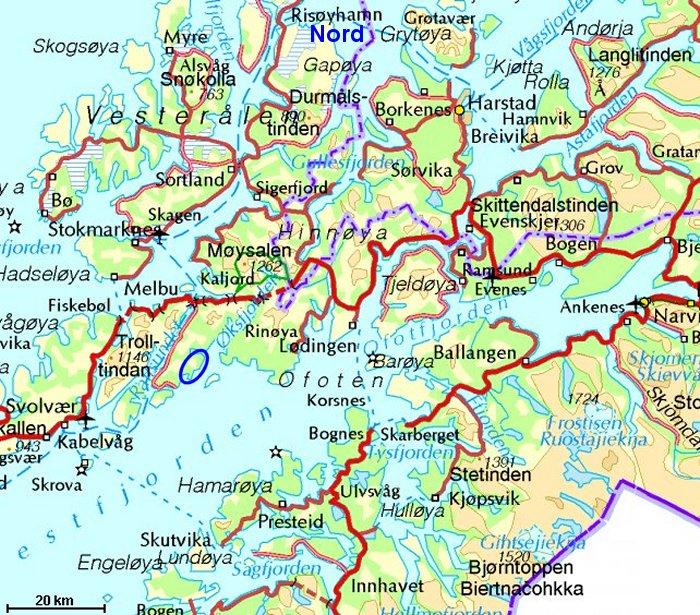 kart over svolvær Kvannkjosen kart over svolvær