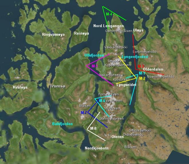sorbmegaisa kart Skiing in Lyngen sorbmegaisa kart