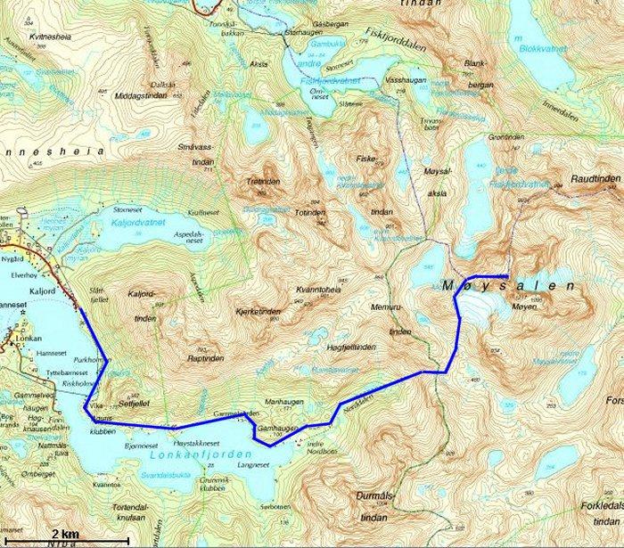 lofast kart Møysalen 3 august 2008 lofast kart