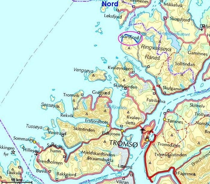 kart ringvassøy Skarsfjorden 23 august 2008 kart ringvassøy