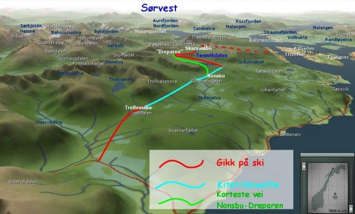 kart over tromsdalen Snarbyeidet Tromsdalen kart over tromsdalen