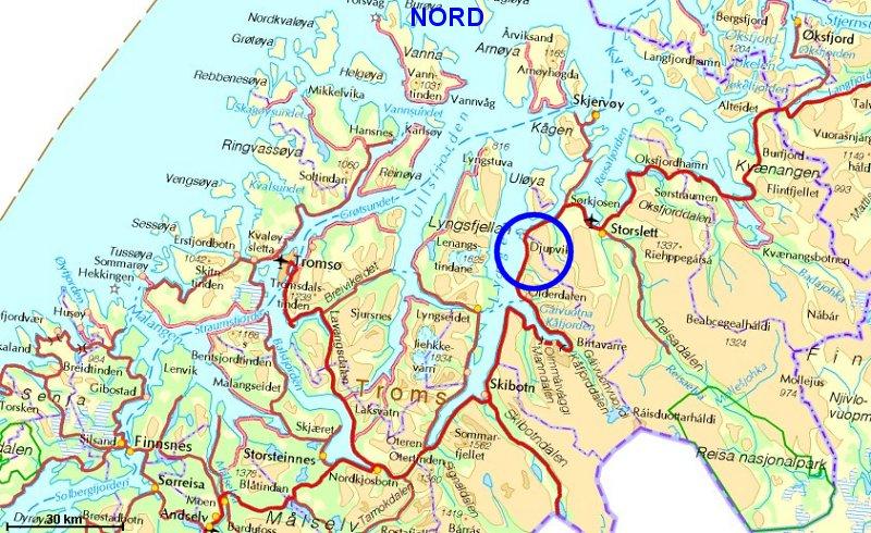 kart kåfjord Sorbmegaisa kart kåfjord