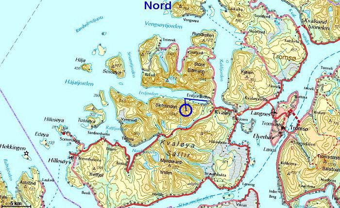 kart over kvaløya Storsteinnestinden kart over kvaløya