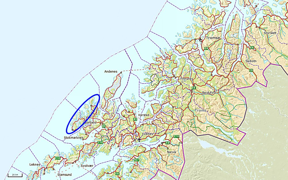 myre vesterålen kart Sykkelturer i Vesterålen myre vesterålen kart
